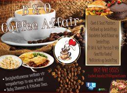 B & O  Coffee Affair | Dalview, Brakpan, Gauteng