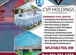 CVP HOLDINGS – SWIMMING POOL SERVICE | Pretoria and Johannesburg Areas, Gauteng
