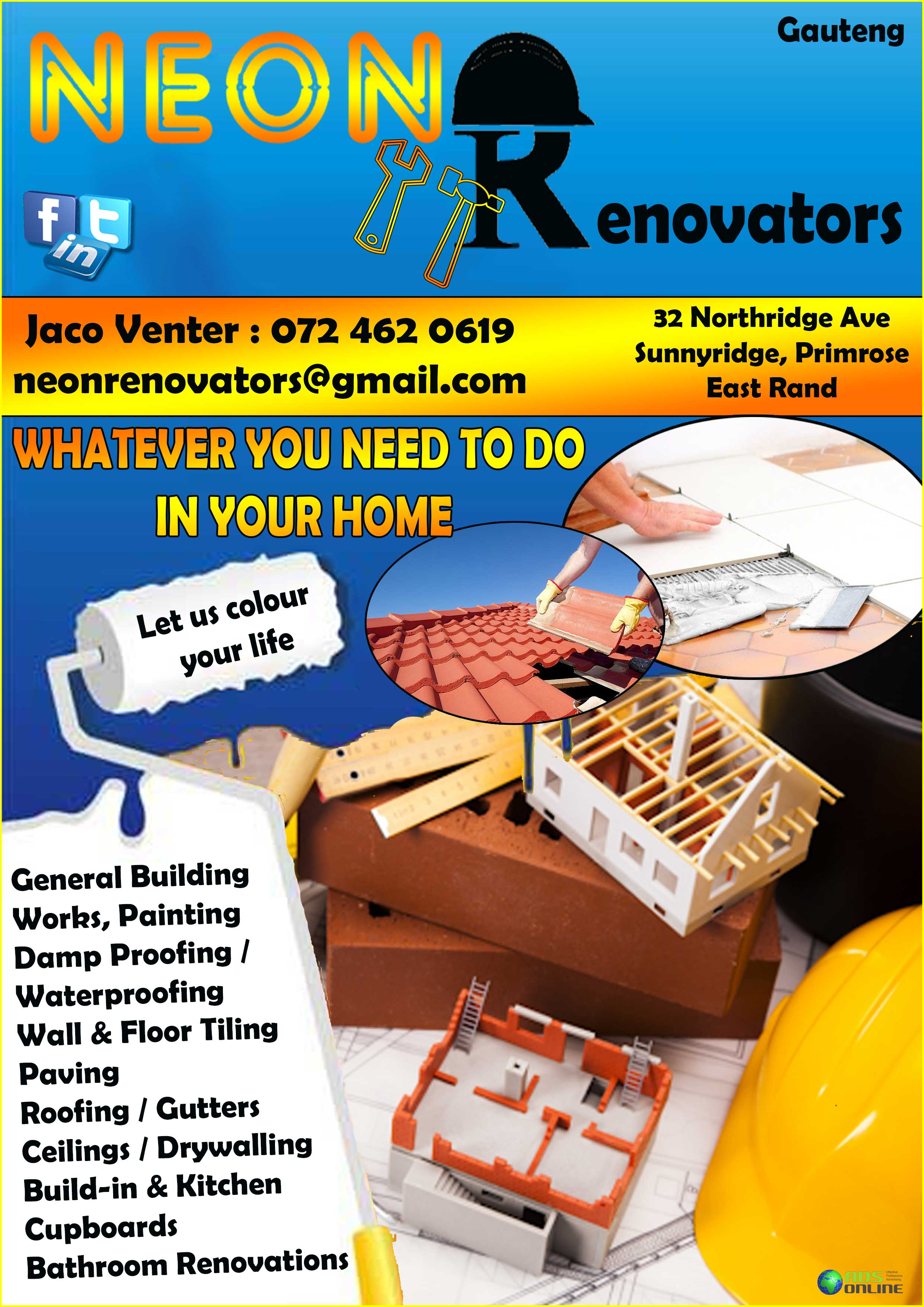 Neon Renovators – Home Renovations | East Rand, Gauteng