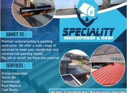 Speciality Waterproof & Roof | Centurion, Pretoria, Gauteng
