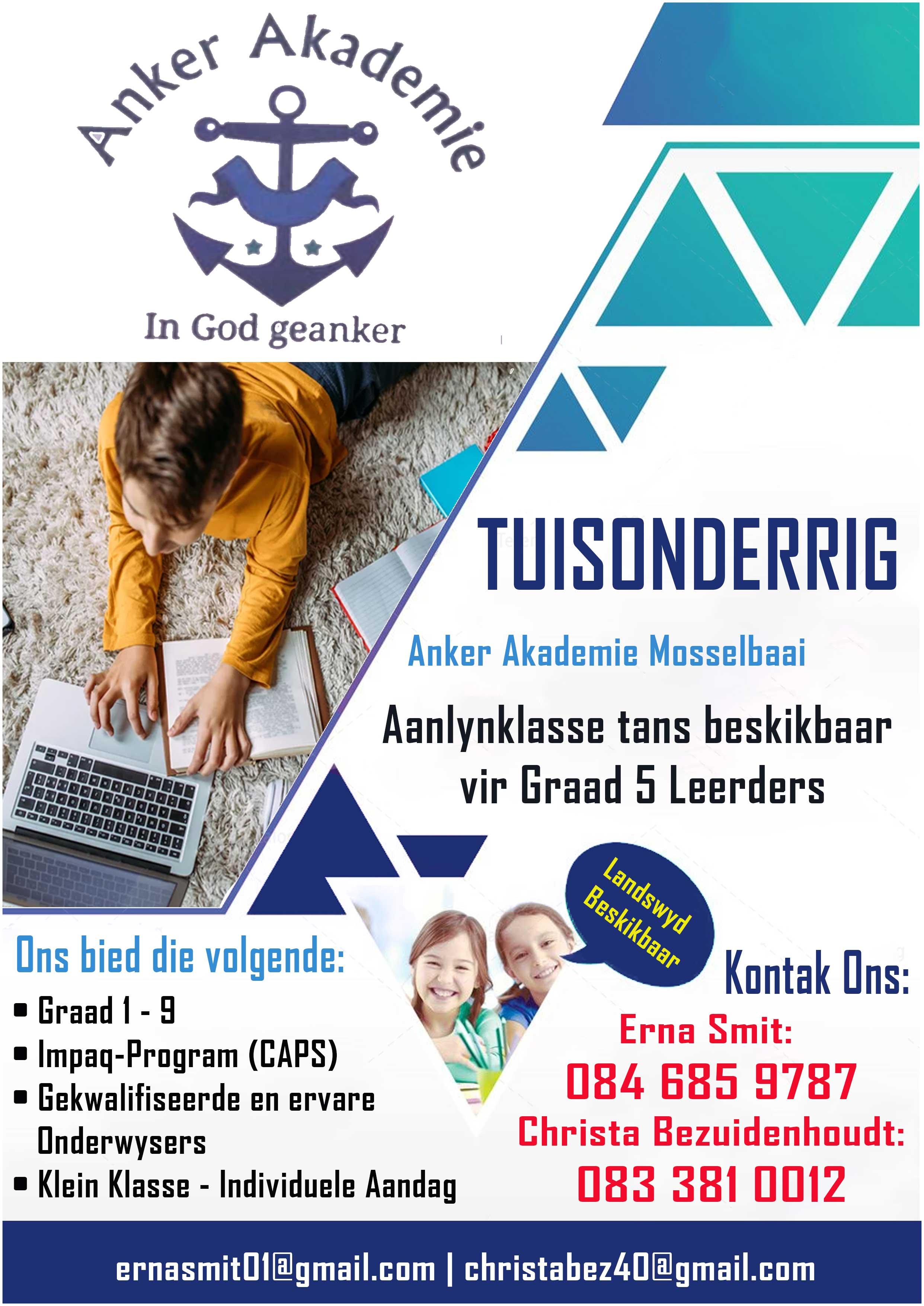 Anker Akademie Mosselbaai   Western Cape