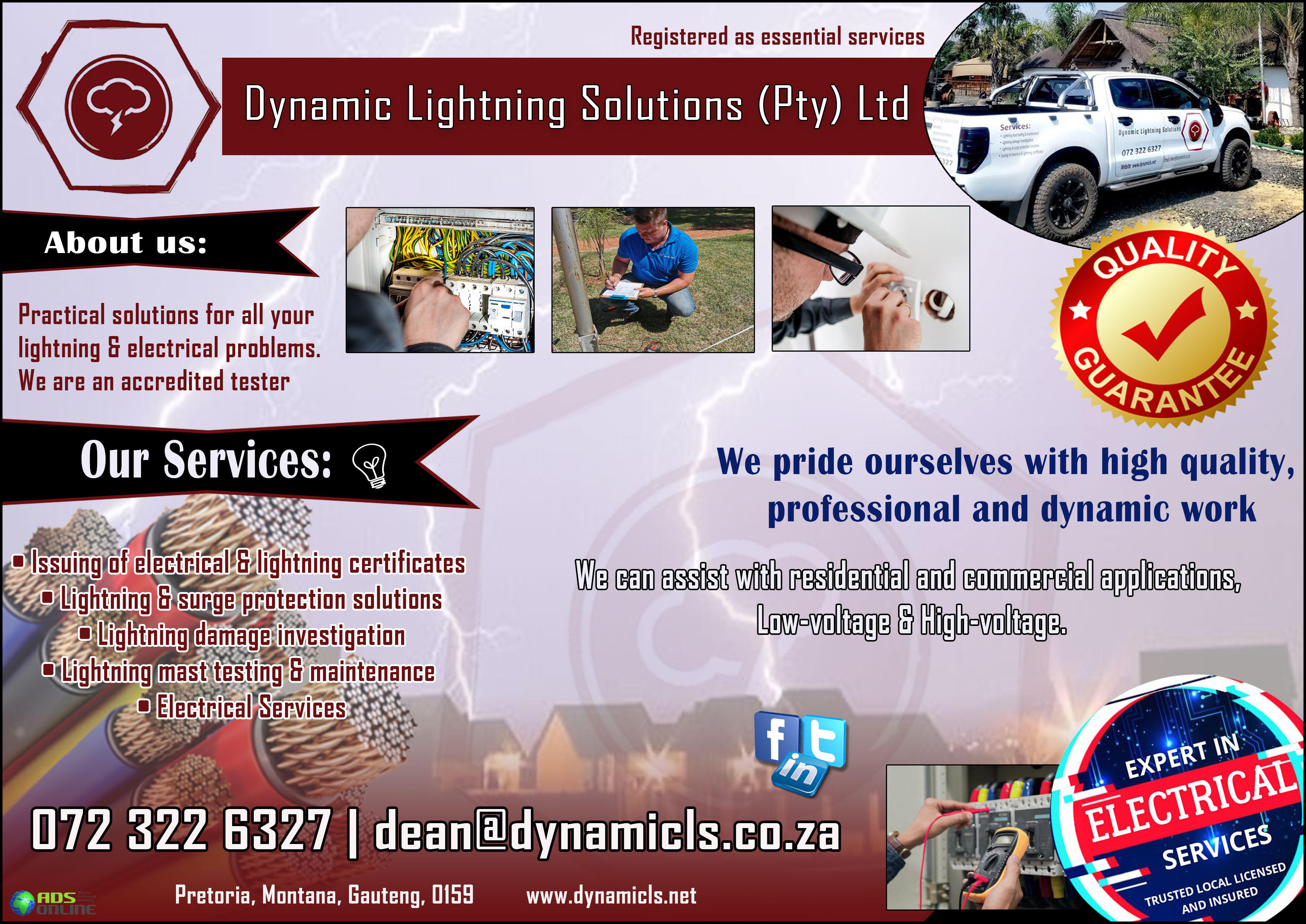 Dynamic Lightning Solutions (Pty) Ltd | Pretoria, Montana, Gauteng
