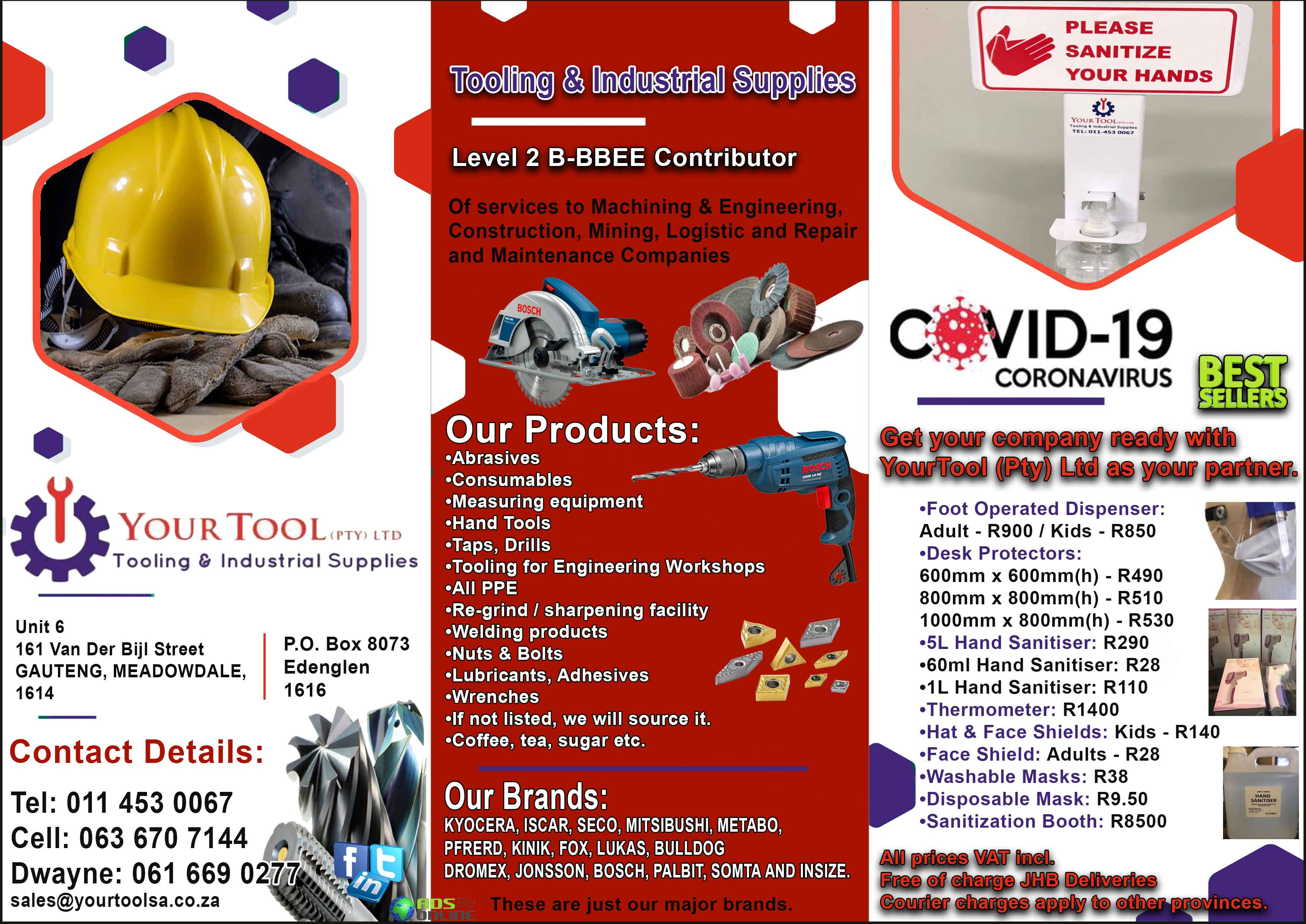 Your Tool (Pty) Ltd – Tooling & Industrial Supplies | Gauteng, Meadowdale