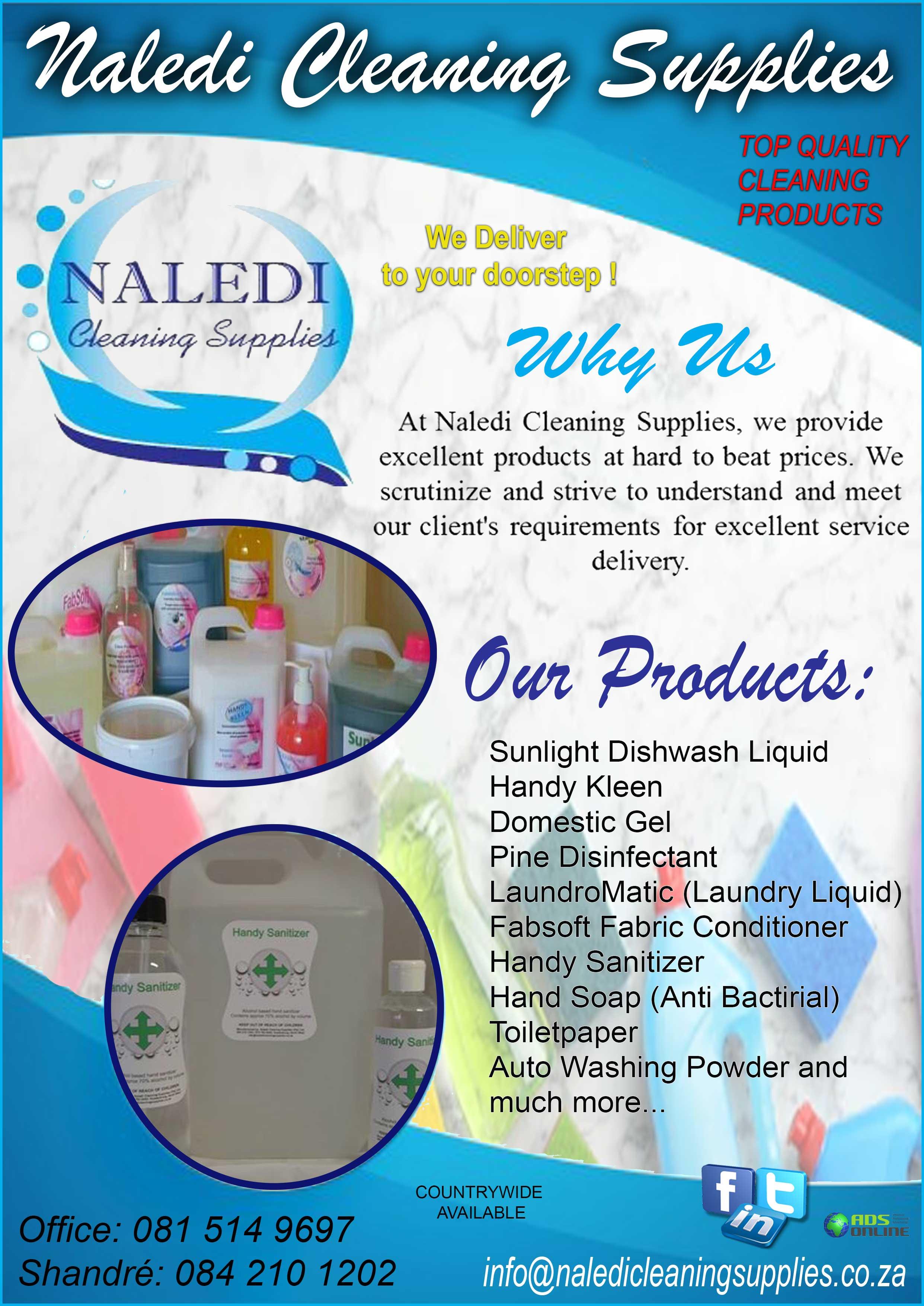 Naledi Cleaning Supplies   Rustenburg, North West
