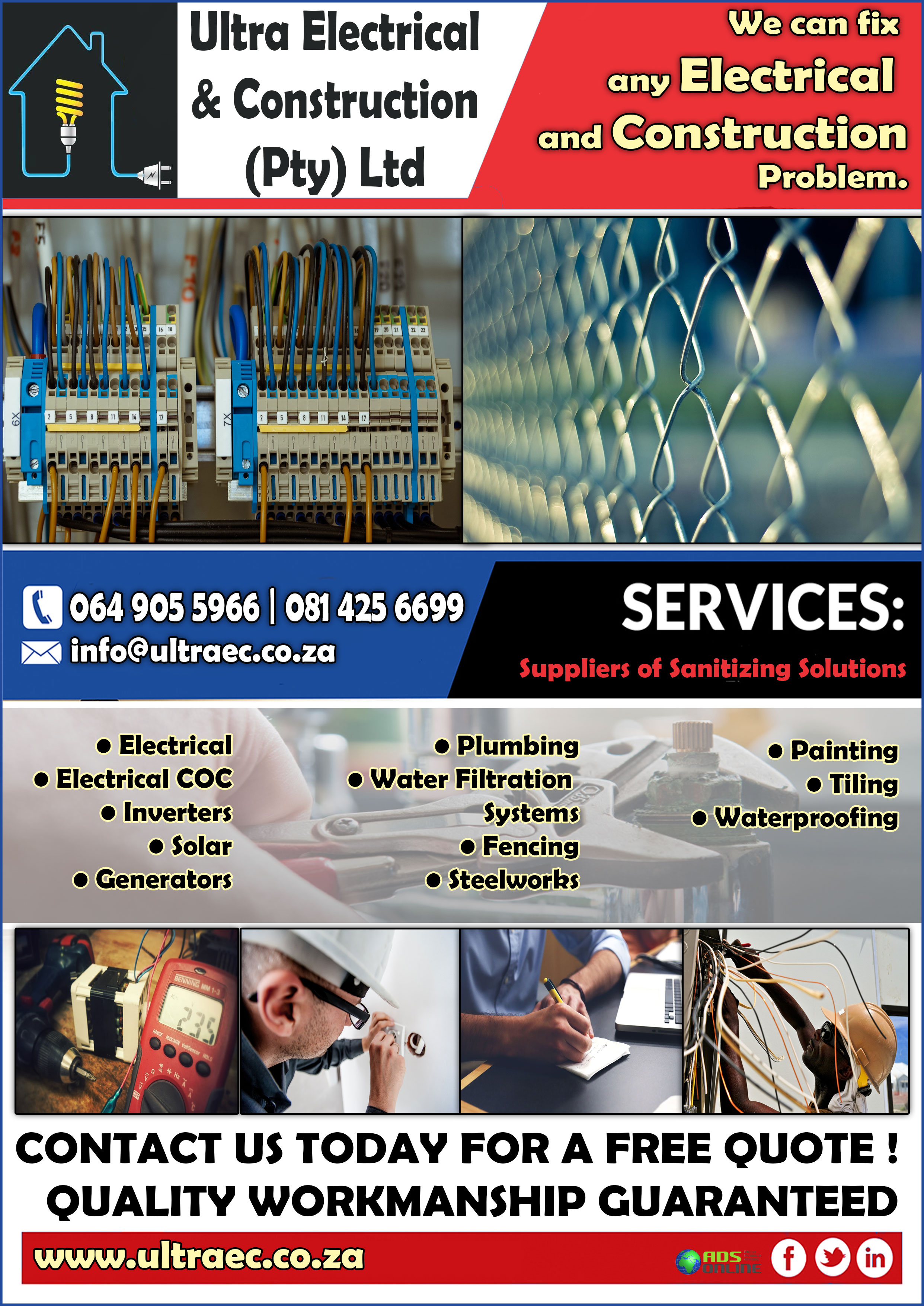 Ultra Electrical and Construction (Pty) Ltd | Somerset West, Western Cape