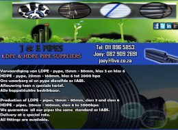 J & E Pipes | Heilbron, Freestate