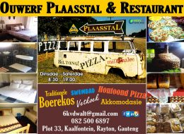 Ouwerf Plaasstal Restaurant   Rayton, Pretoria