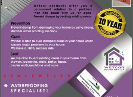 Wetcor   Gauteng, North-West, Mpumalanga, Limpopo, Free-State, KZN, Northern Cape, Western Cape, Eastern Cape, Nationwide