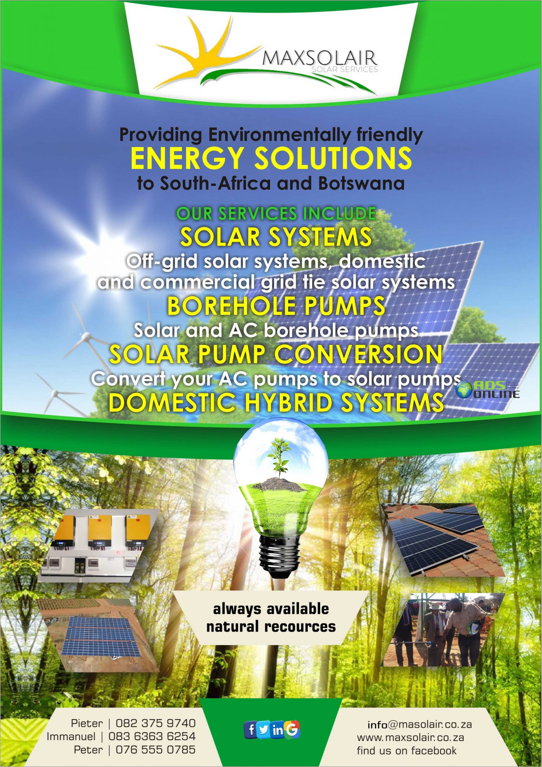 Maxsolair Pty Ltd | Solar Solutions – Available Countrywide, Botswana
