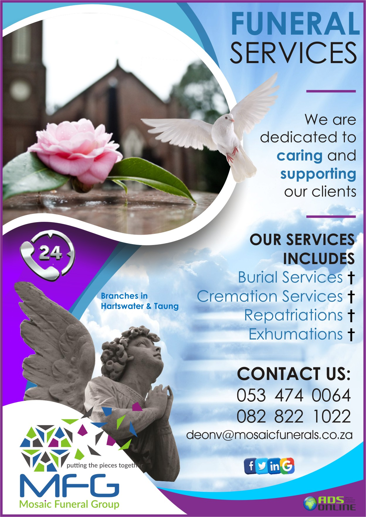 Mosaic Funeral Group (MFG) FUNERAL SERVICES | Hartswater, Limpopo