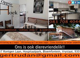 Oppie Hoek Akkommodasie / Oornag Verblyf Bloemfontein