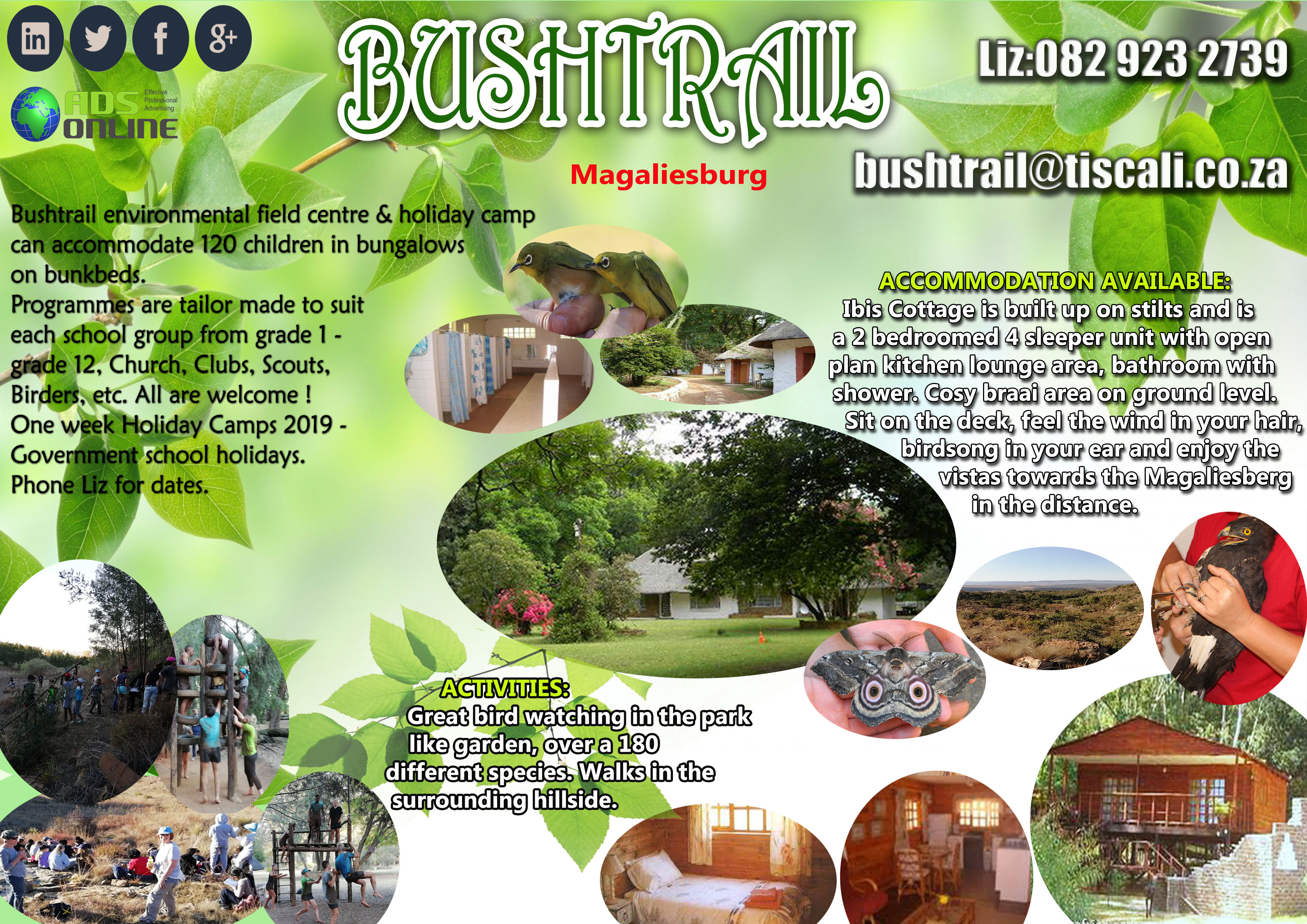 Bushtrails Ibis Cottage / Environmental Field Centre and Holiday Camp | Magaliesburg
