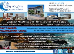 Van Eeden Accommodation / Guest House | Matzikama Municipal Area (Louis Rood) (Fully Furnished Accommodation for sale)