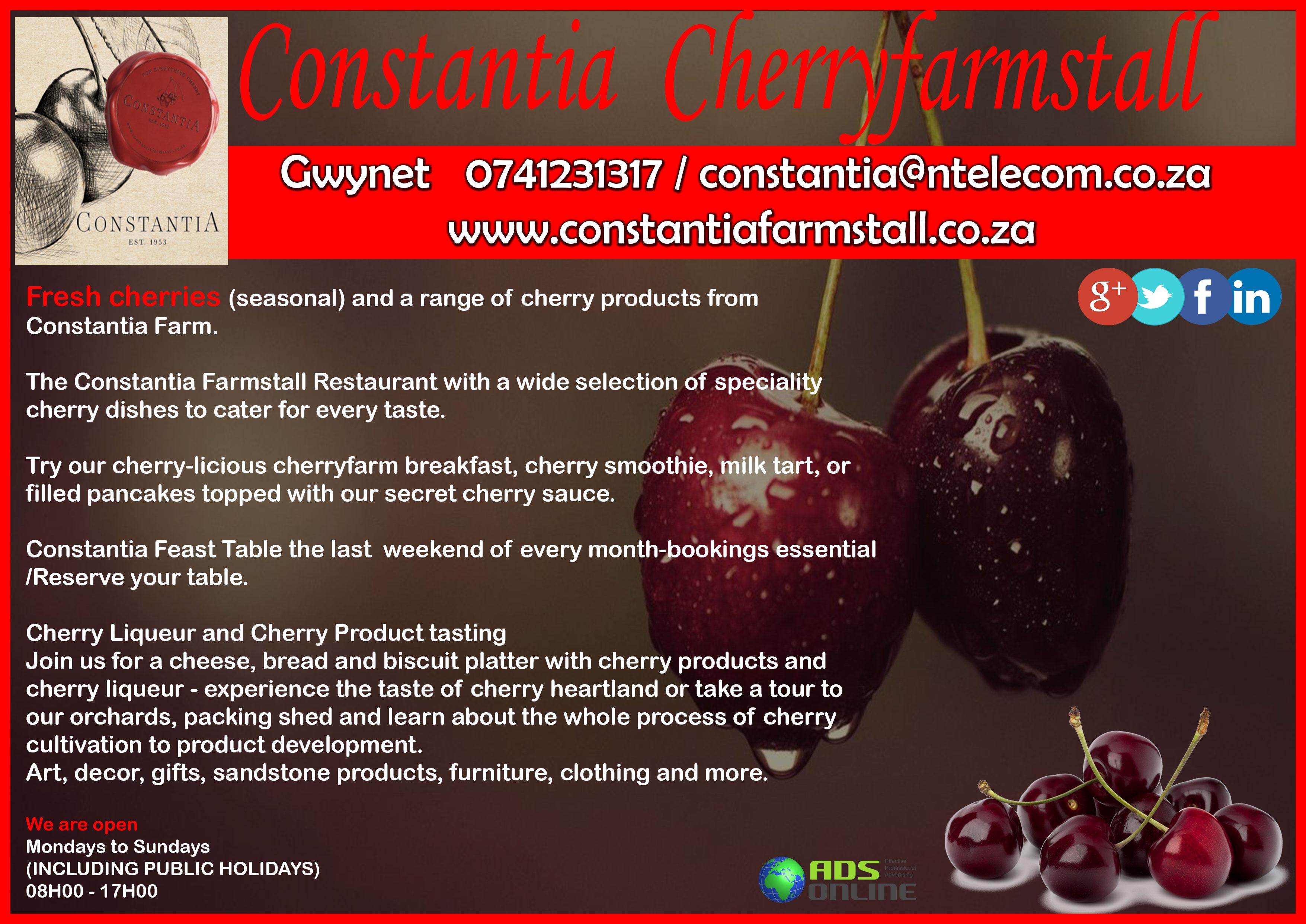 CONSTANTIA CHERRY FARMSTALL | Clocolan, Free State
