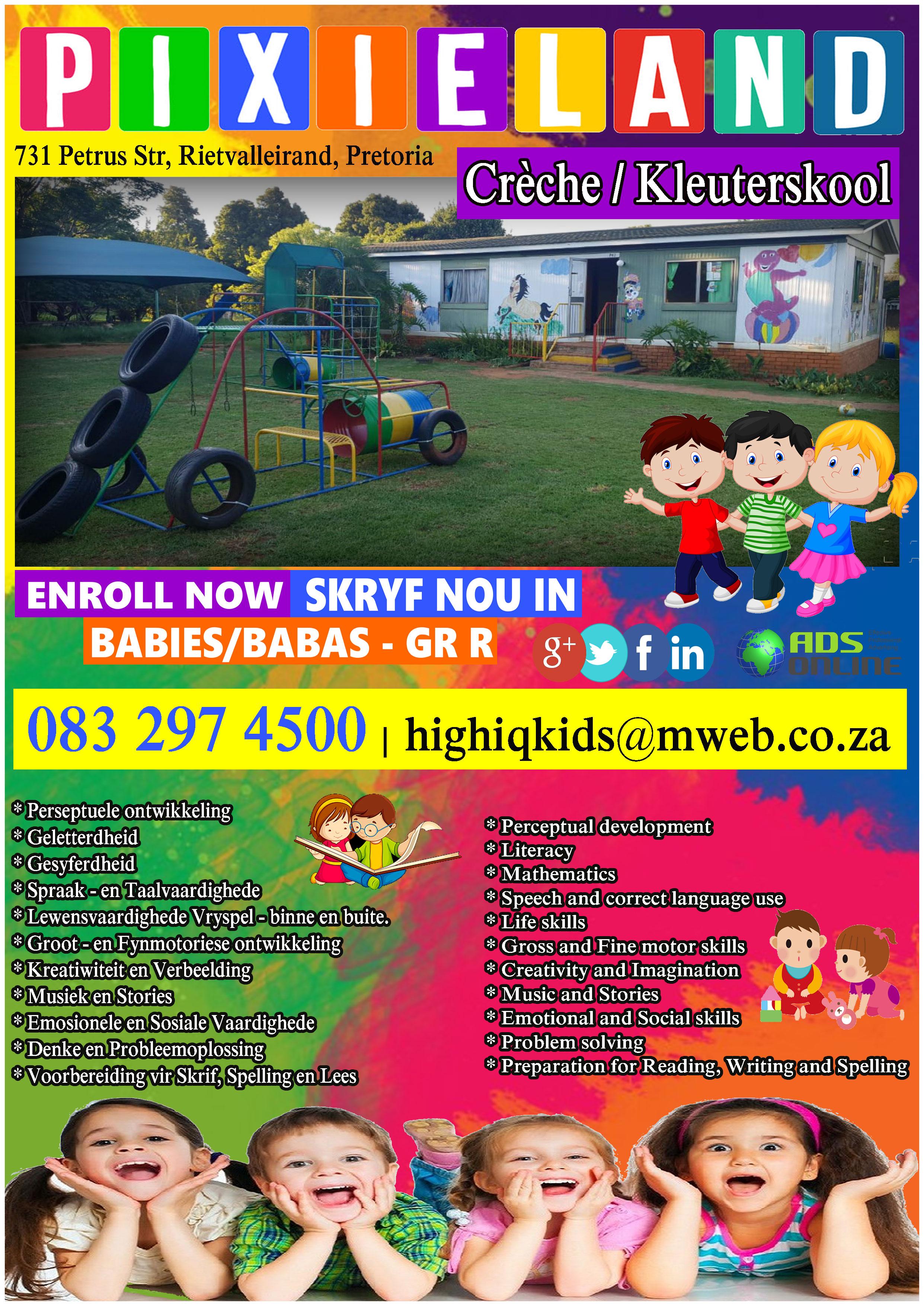 Pixieland Crèche/Kleuterskool | Rietvalleirand, Pretoria, Gauteng