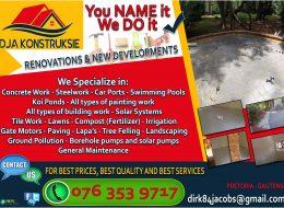 DJA KONSTRUKSIE – Renovations and New Developments | Pretoria, Gauteng